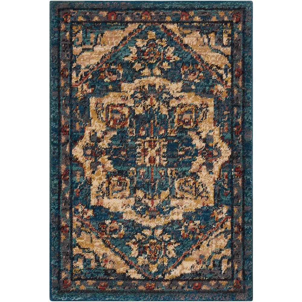 Nourison 2020 Area Rug, Teal, 2' x 3'. Picture 1