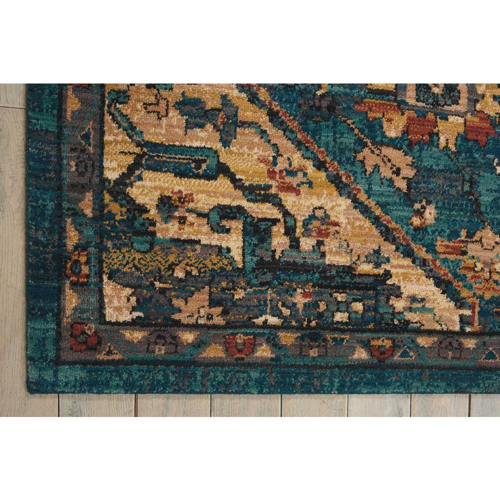 Nourison 2020 Area Rug, Teal, 12' x 15'. Picture 4