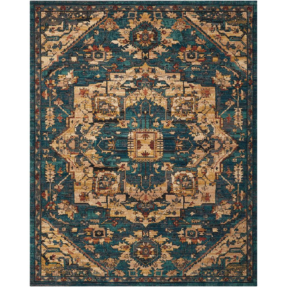 Nourison 2020 Area Rug, Teal, 12' x 15'. Picture 1