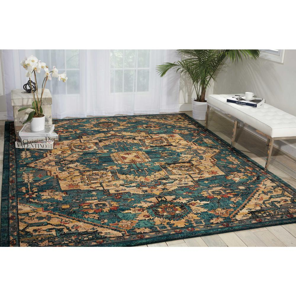 """Nourison 2020 Area Rug, Teal, 9'2"""" x 12'5"""". Picture 2"""