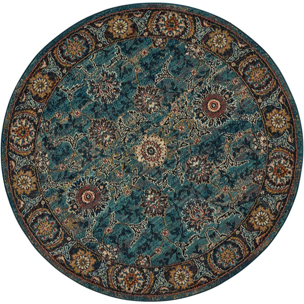 Nourison 2020 Area Rug, Marine, 5' x ROUND. The main picture.