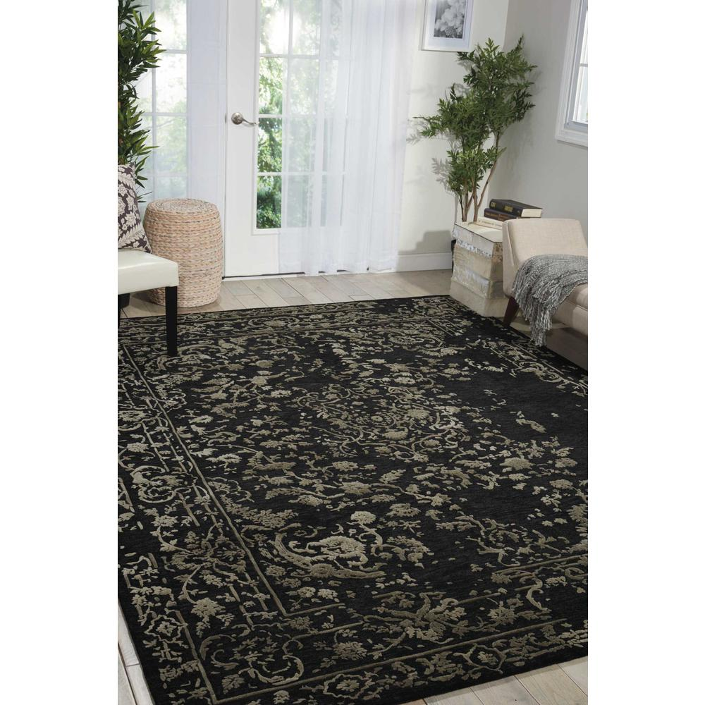 """Opaline Area Rug, Mmidnight/Silver, 5'6"""" x 7'5"""". Picture 4"""