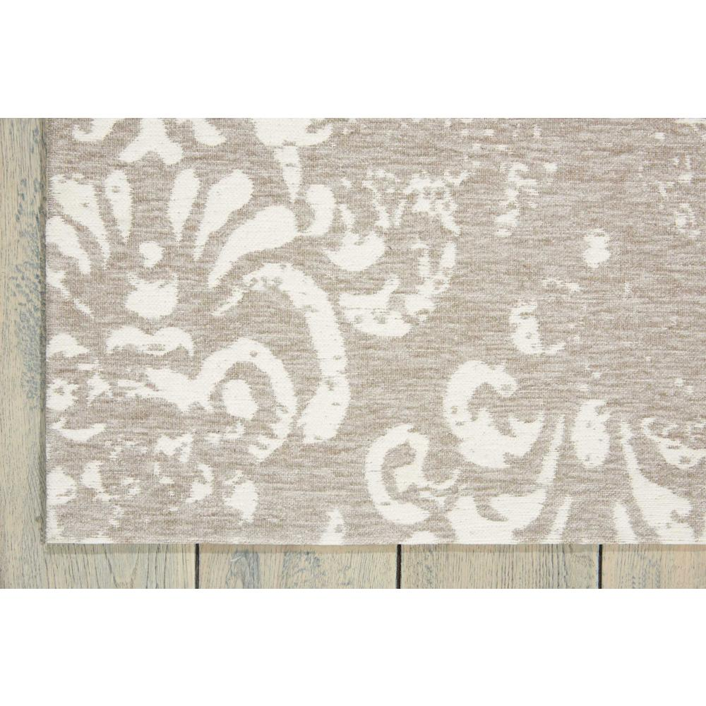 "Damask Area Rug, Ivory/Grey, 2'3"" x 3'9"". Picture 2"