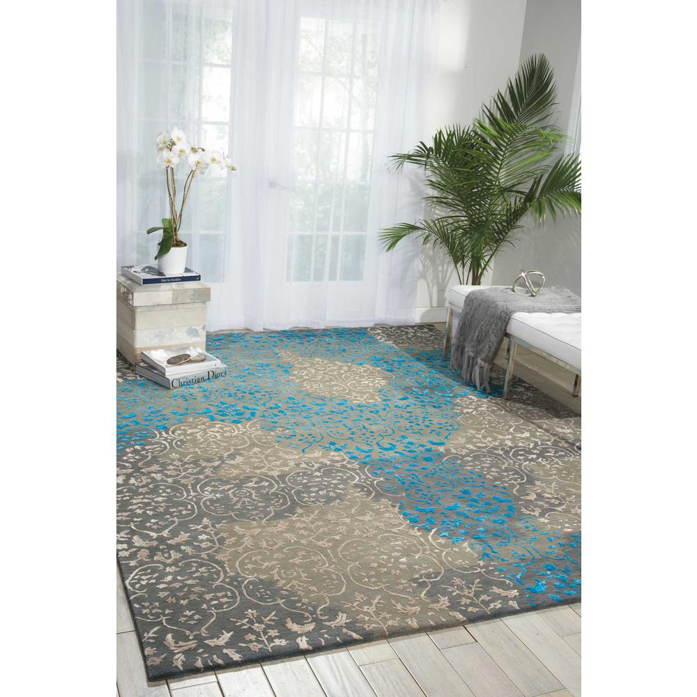 Nourison Opaline Charcoal Area Rug. Picture 4