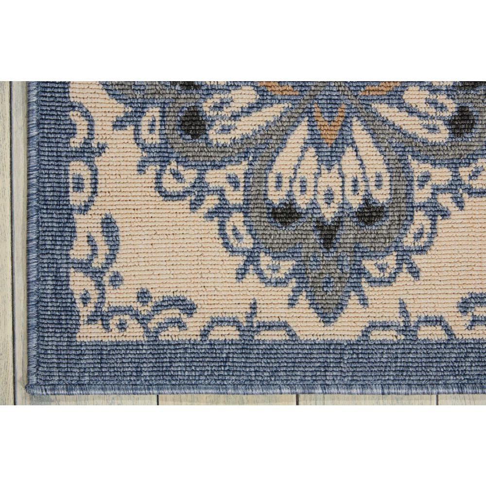Nourison Caribbean Ivory Blue Indoor/Outdoor Area Rug. Picture 2
