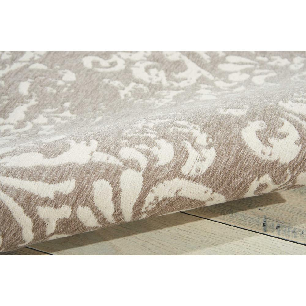 "Damask Area Rug, Ivory/Grey, 2'3"" x 3'9"". Picture 3"