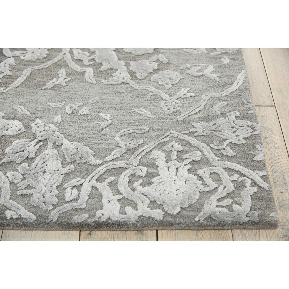 """Opaline Area Rug, Charcoal/Silver, 7'9"""" x 9'9"""". Picture 3"""