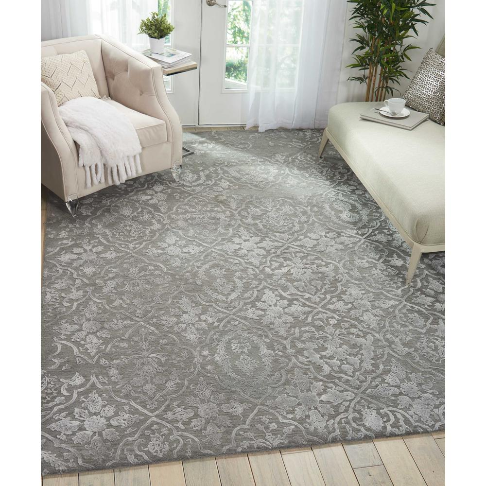"""Opaline Area Rug, Charcoal/Silver, 7'9"""" x 9'9"""". Picture 2"""