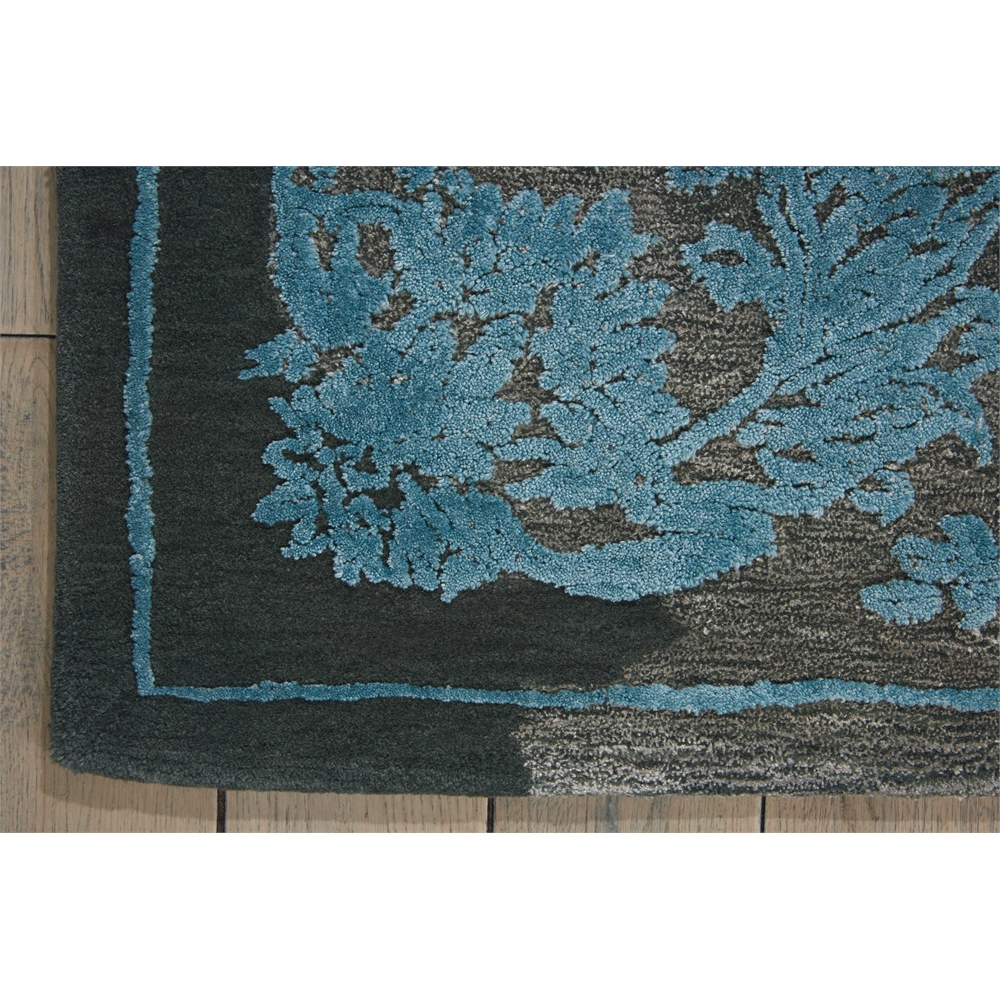 """Opaline Area Rug, Charcoal/Blue, 7'9"""" x 9'9"""". Picture 2"""