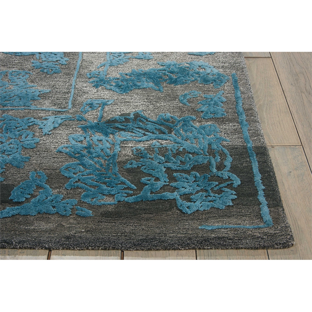 """Opaline Area Rug, Charcoal/Blue, 7'9"""" x 9'9"""". Picture 3"""