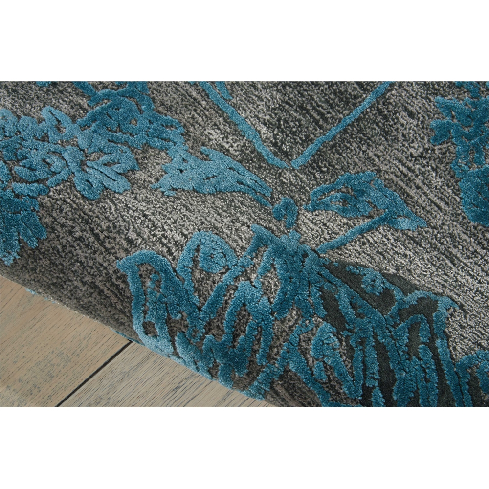 """Opaline Area Rug, Charcoal/Blue, 7'9"""" x 9'9"""". Picture 4"""
