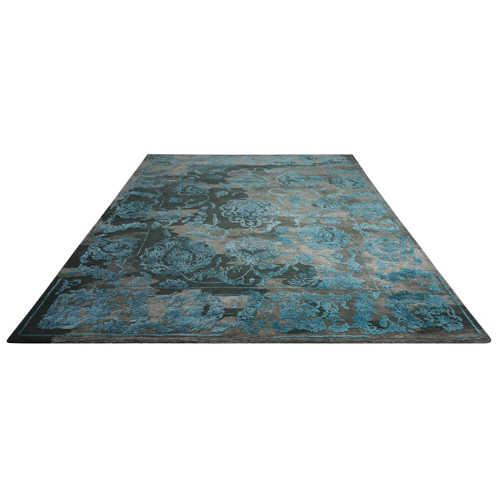 """Opaline Area Rug, Charcoal/Blue, 7'9"""" x 9'9"""". Picture 5"""