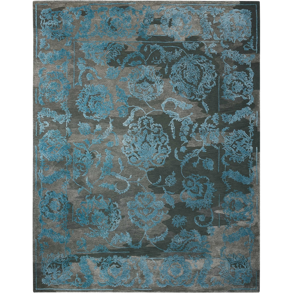 """Opaline Area Rug, Charcoal/Blue, 7'9"""" x 9'9"""". Picture 1"""