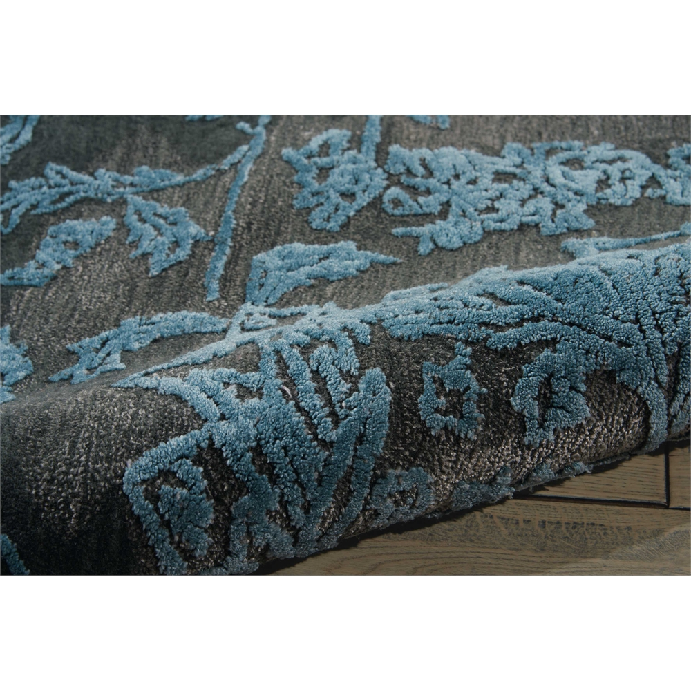 """Opaline Area Rug, Charcoal/Blue, 7'9"""" x 9'9"""". Picture 7"""