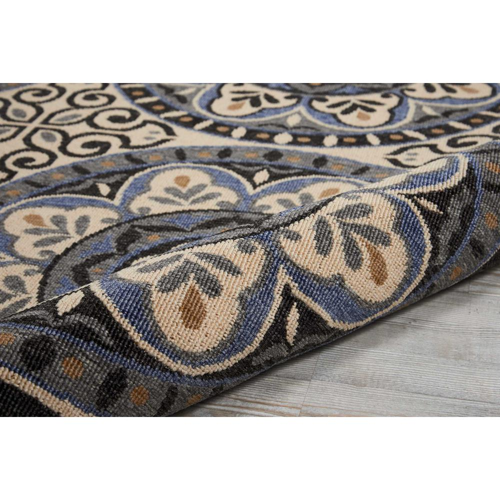 """Caribbean Area Rug, Ivory/Charcoal, 9'3"""" x 12'9"""". Picture 3"""