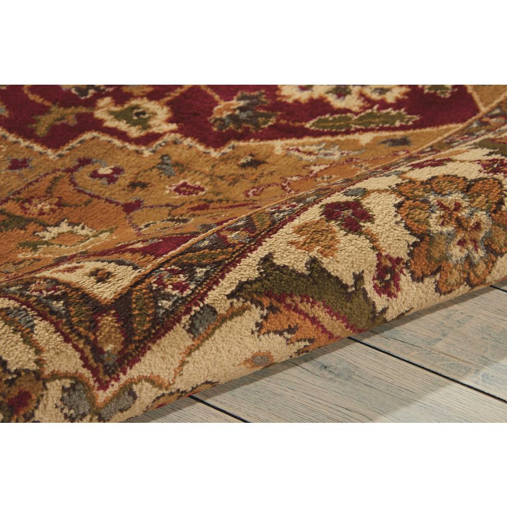 """Paramount Area Rug, Gold, 5'3"""" x ROUND. Picture 5"""