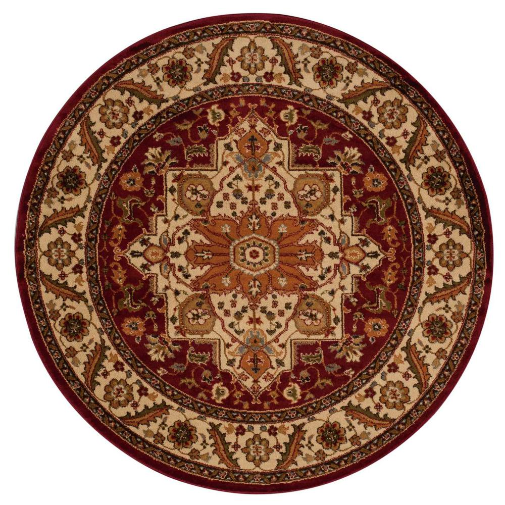 """Paramount Area Rug, Gold, 5'3"""" x ROUND. Picture 3"""