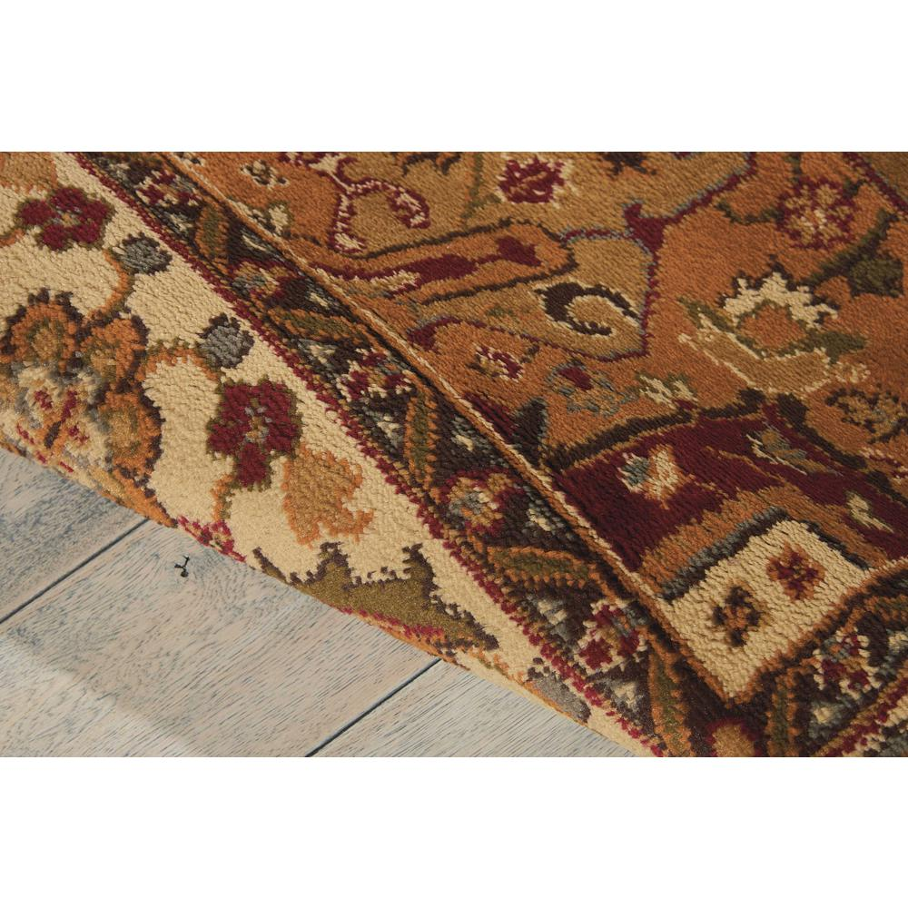 """Paramount Area Rug, Gold, 5'3"""" x ROUND. Picture 6"""