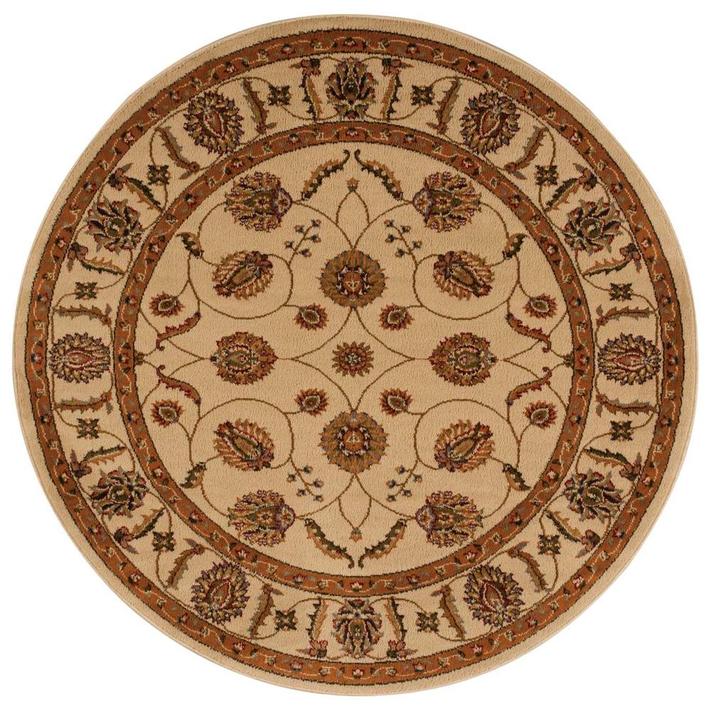 "Paramount Area Rug, Beige, 5'3"" x ROUND. The main picture."