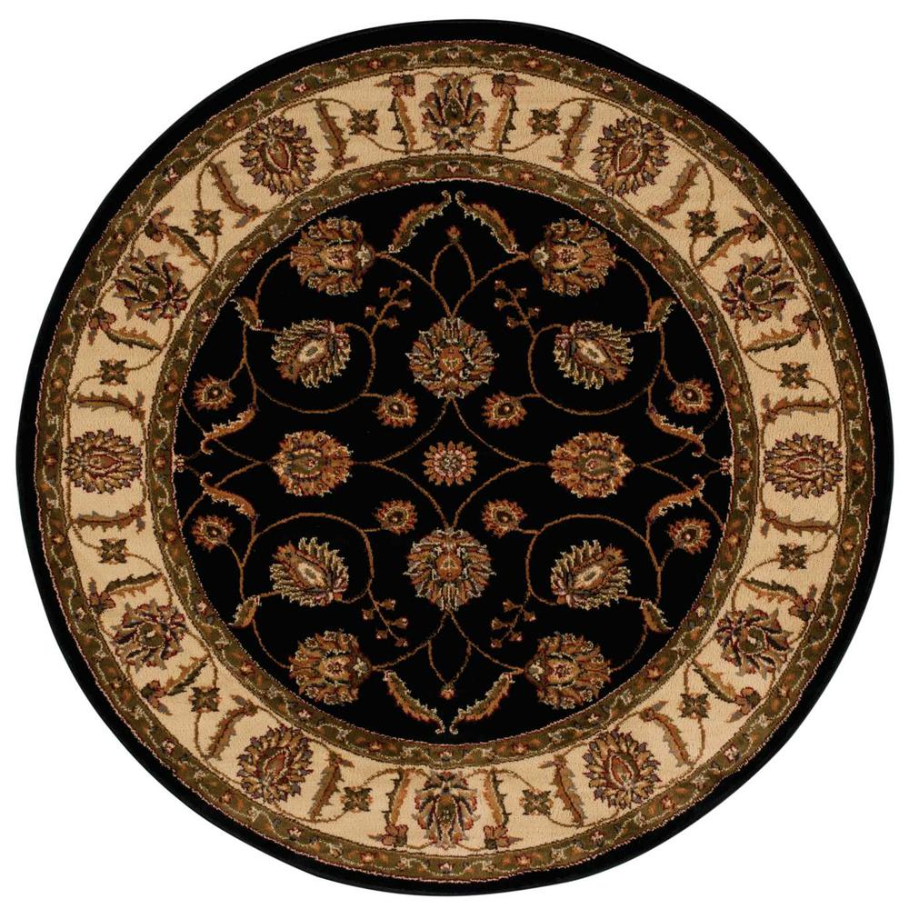 "Paramount Area Rug, Black, 5'3"" x ROUND. The main picture."