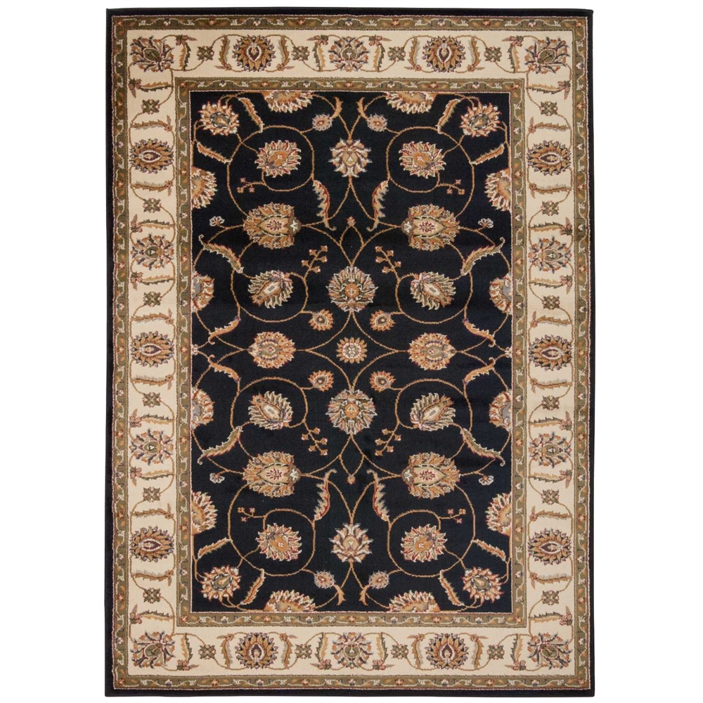 "Paramount Area Rug, Black, 5'3"" x 7'3"". The main picture."