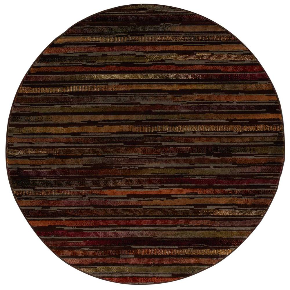 "Paramount Area Rug, Multicolor, 5'3"" x ROUND. Picture 3"