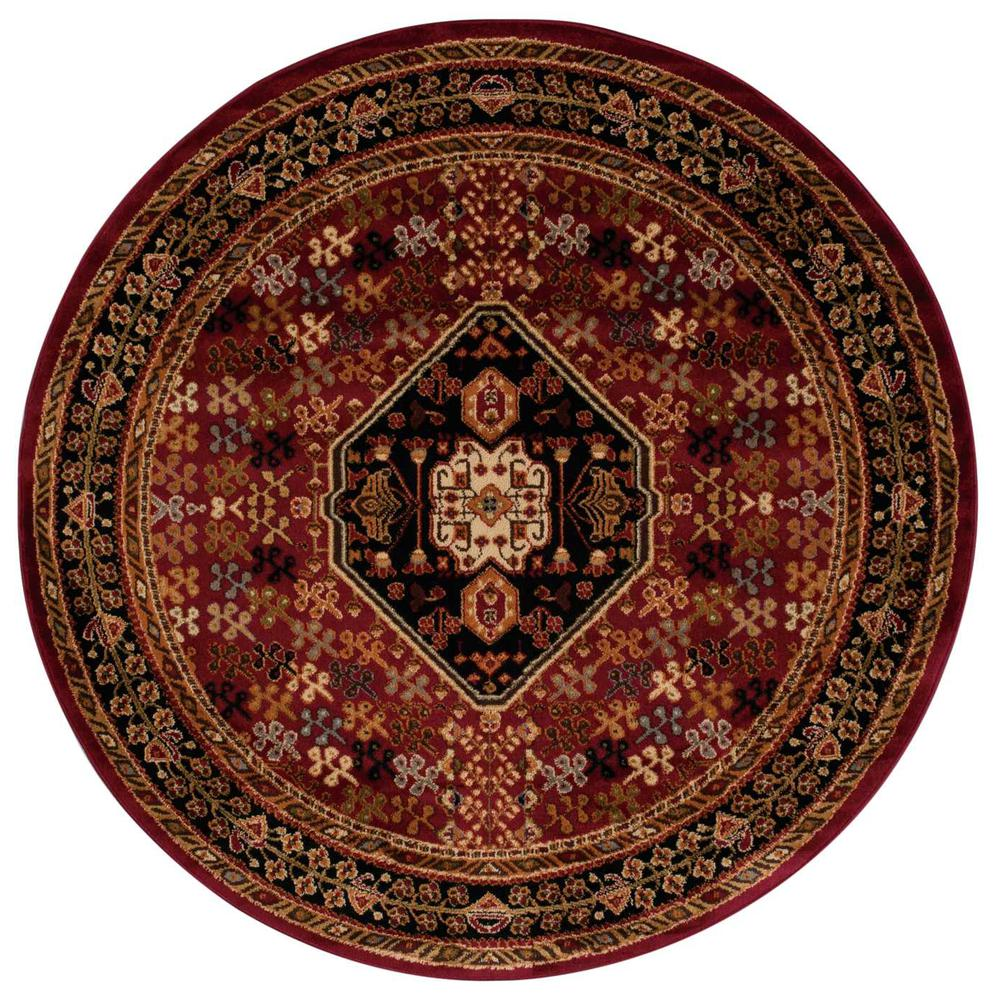 """Paramount Area Rug, Red, 5'3"""" x ROUND. Picture 1"""