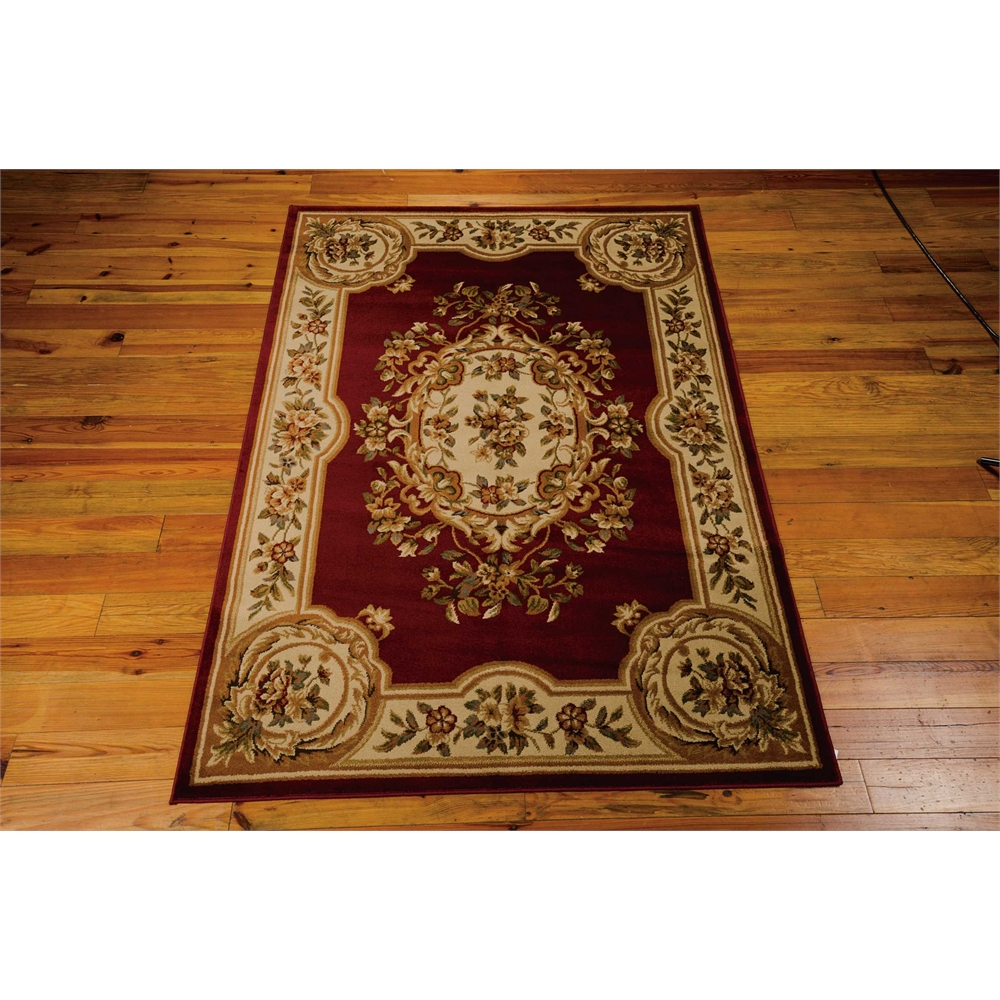 "Paramount Area Rug, Red, 5'3"" x 7'3"". Picture 2"