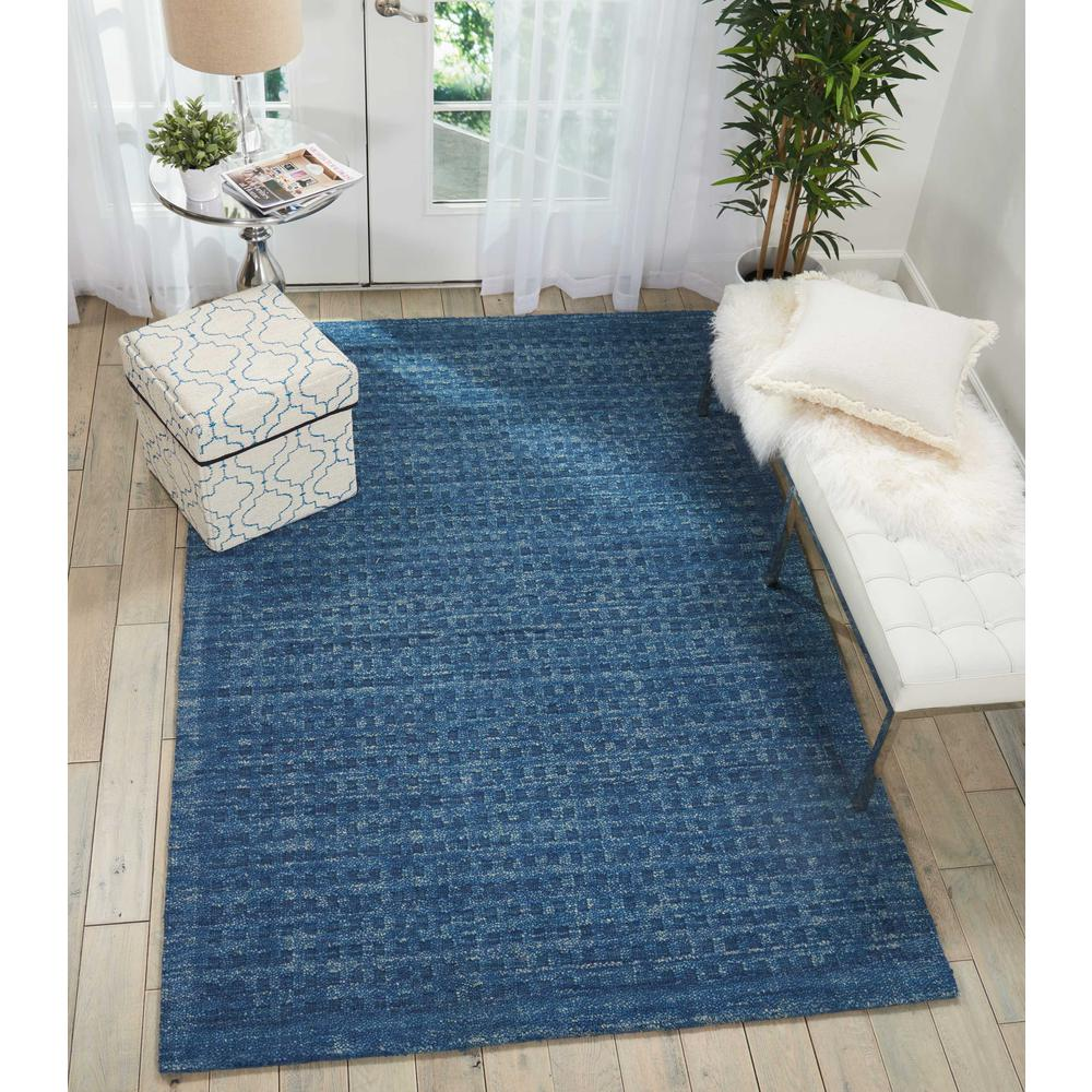 """Perris Area Rug, Navy, 5' x 7'6"""". Picture 2"""
