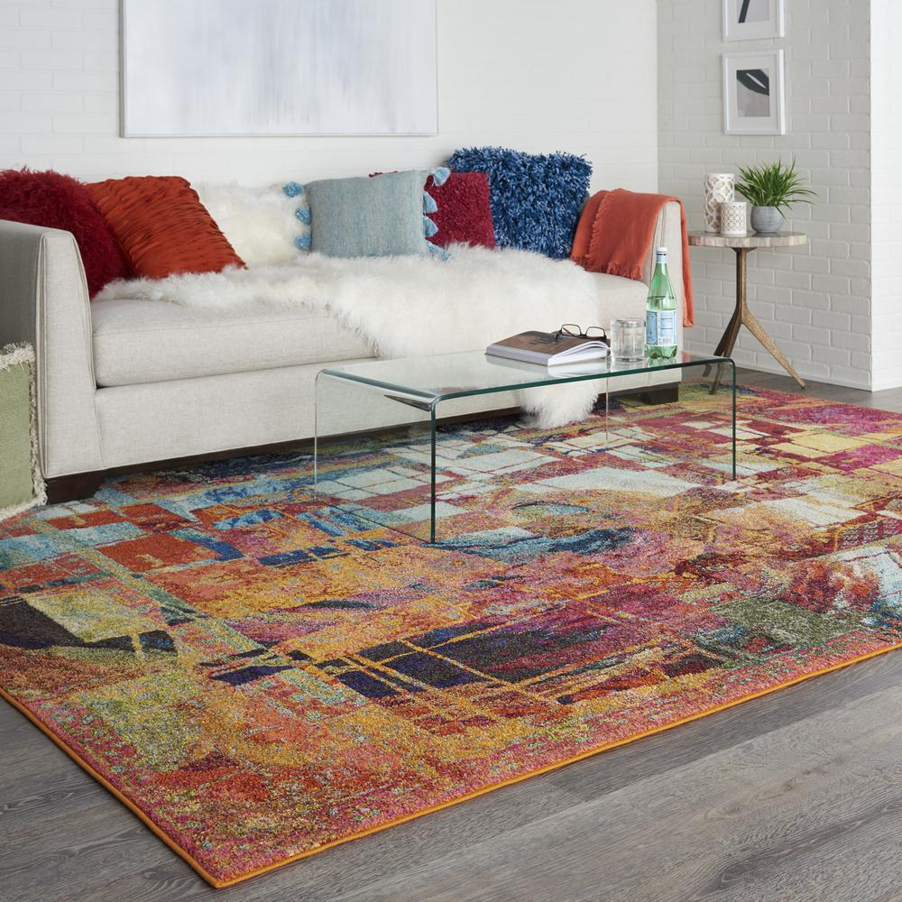 """Celestial Area Rug, Stained Glass, 7'10"""" x 10'6"""". Picture 8"""