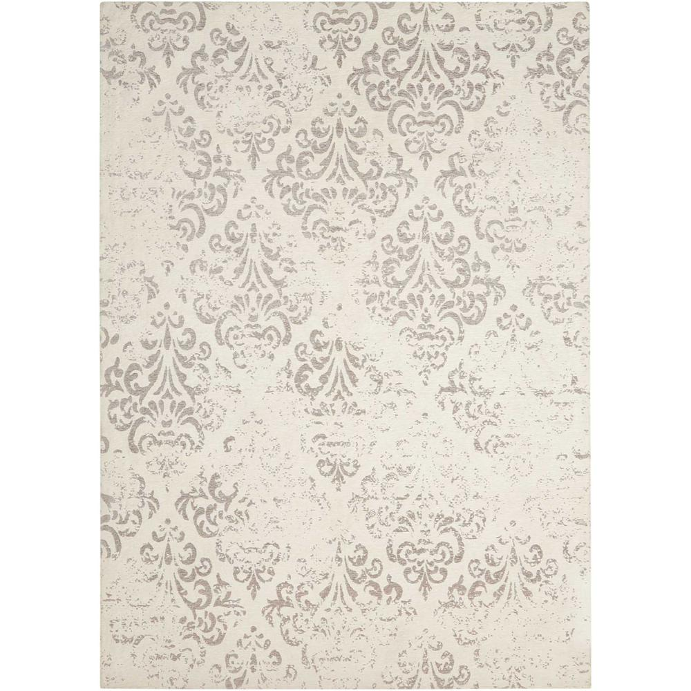 Damask Area Rug, Ivory, 8' x 10'. The main picture.