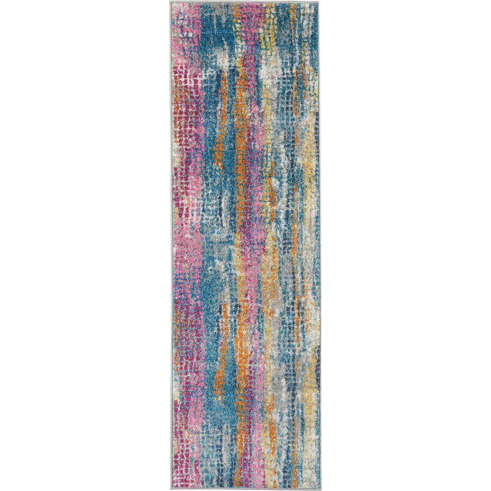 "Passion Area Rug, GREY/Multicolor, 1'10"" x 6'. Picture 1"
