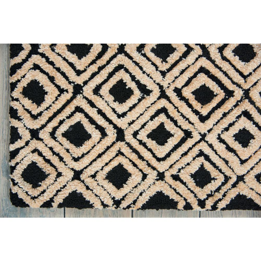 "Modern Deco Area Rug, Black/Beige, 3'9"" x 5'9"". Picture 2"
