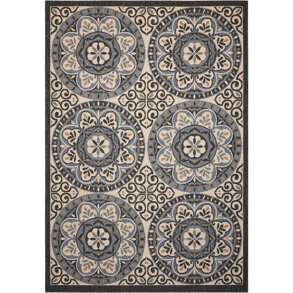 """Caribbean Area Rug, Ivory/Charcoal, 2'6"""" x 4'. Picture 1"""