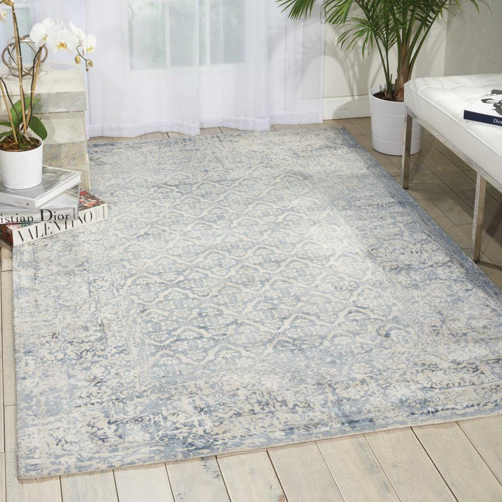 Desert Skies Area Rug, Blue, 8' x 11'. Picture 4