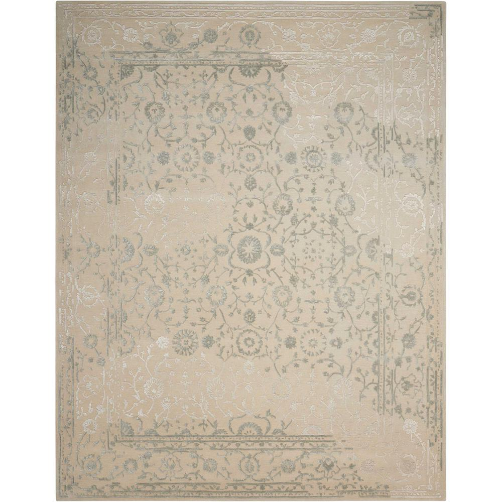 Nourison Opaline Beige Area Rug. The main picture.