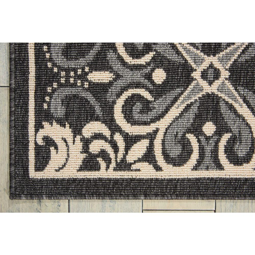 "Caribbean Area Rug, Charcoal, 2'6"" x 4'. Picture 2"