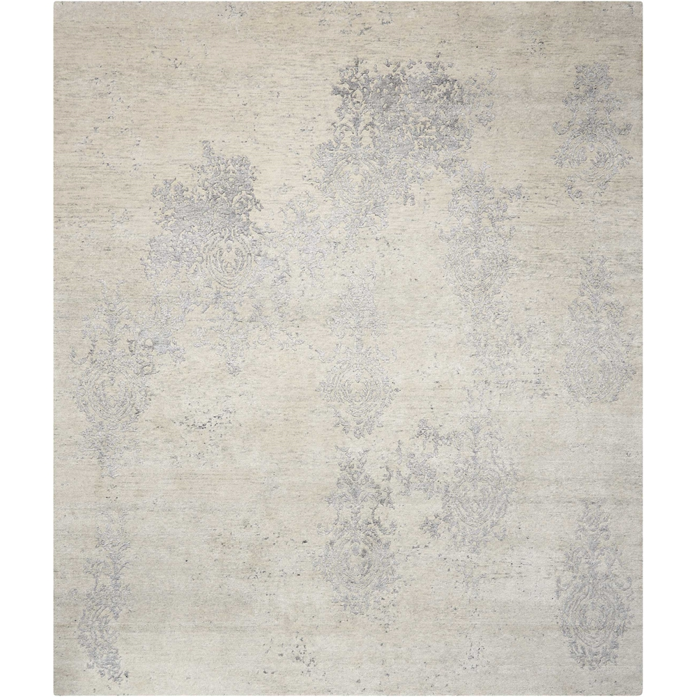 Silk Shadows Ivory/Silver Area Rug. Picture 1