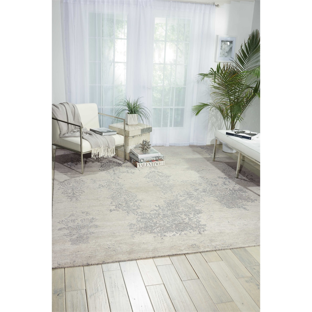Silk Shadows Ivory/Silver Area Rug. Picture 4
