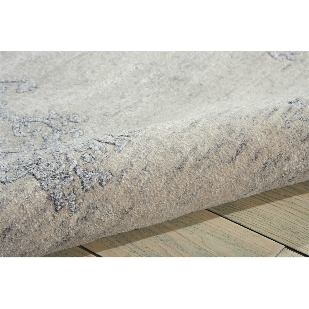 Silk Shadows Ivory/Silver Area Rug. Picture 5