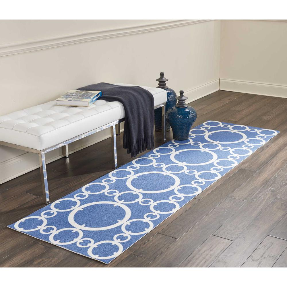"Sun N Shade Area Rug, Navy, 2'3"" x 8'. Picture 3"