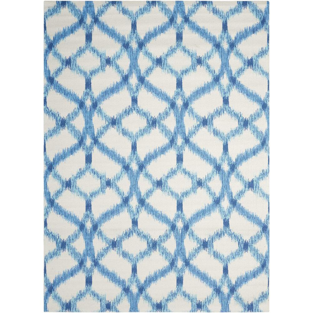 "Sun N Shade Area Rug, Aegean, 8'6"" x SQUARE. Picture 1"