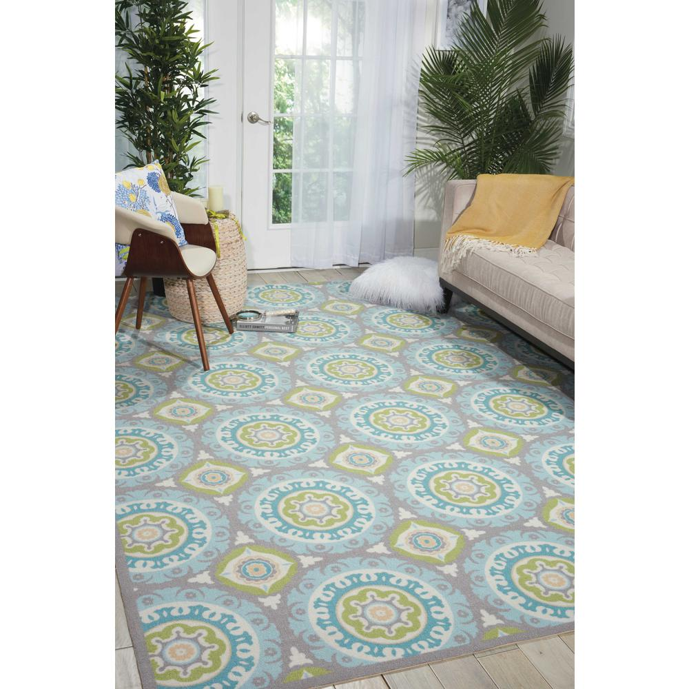 """Sun N Shade Area Rug, Jade, 5'3"""" x 5'3"""" SQUARE. Picture 2"""
