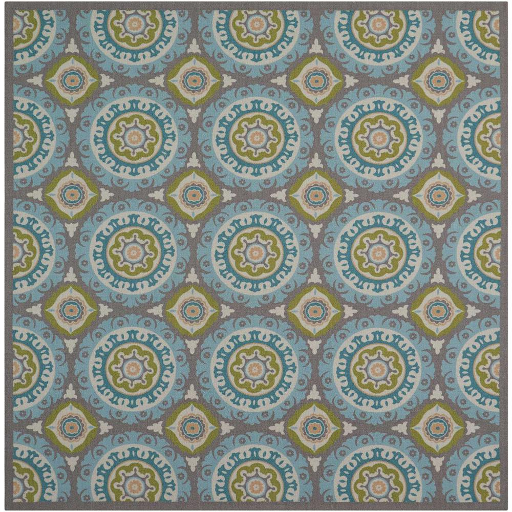 """Sun N Shade Area Rug, Jade, 6'6"""" x SQUARE. Picture 1"""