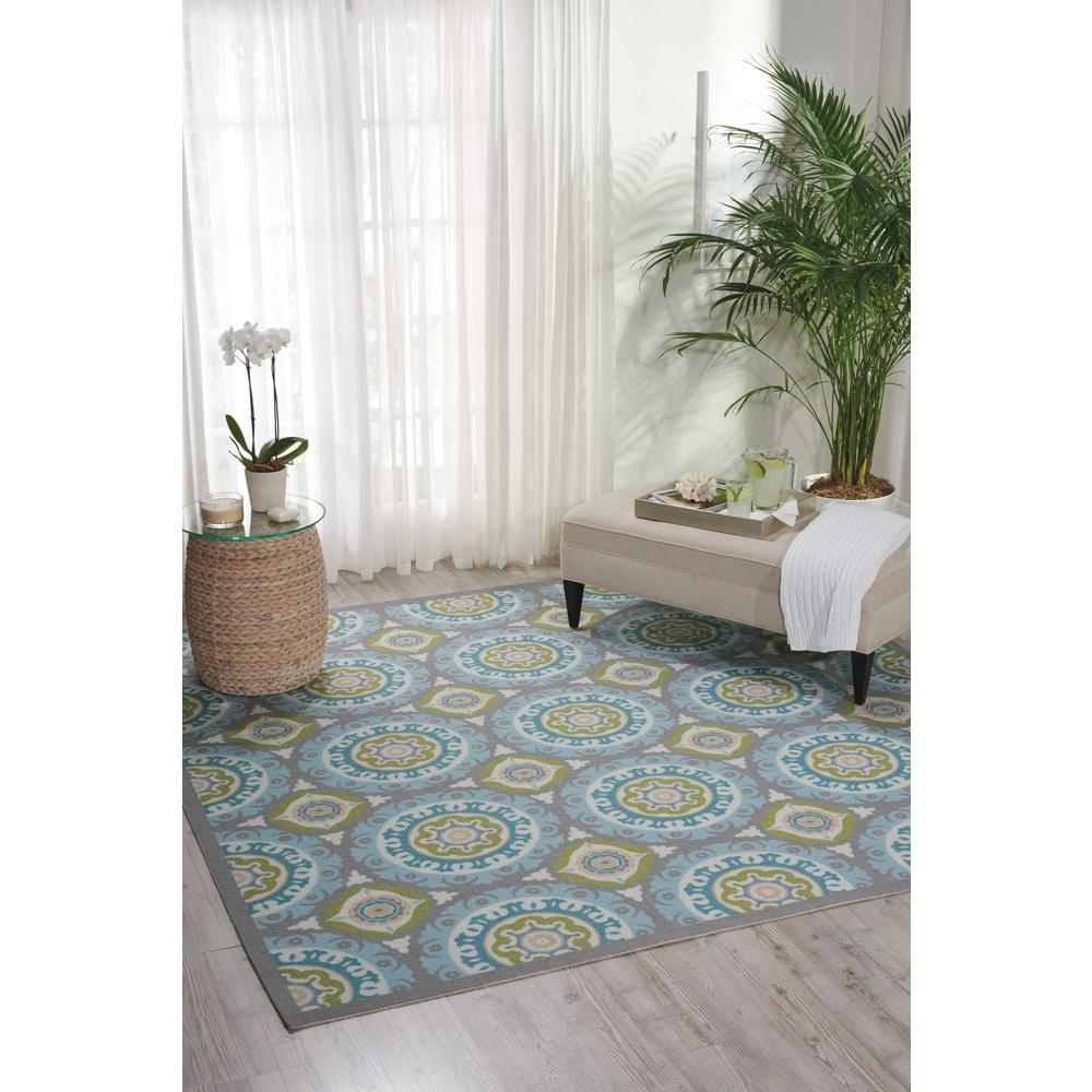 """Sun N Shade Area Rug, Jade, 6'6"""" x SQUARE. Picture 2"""