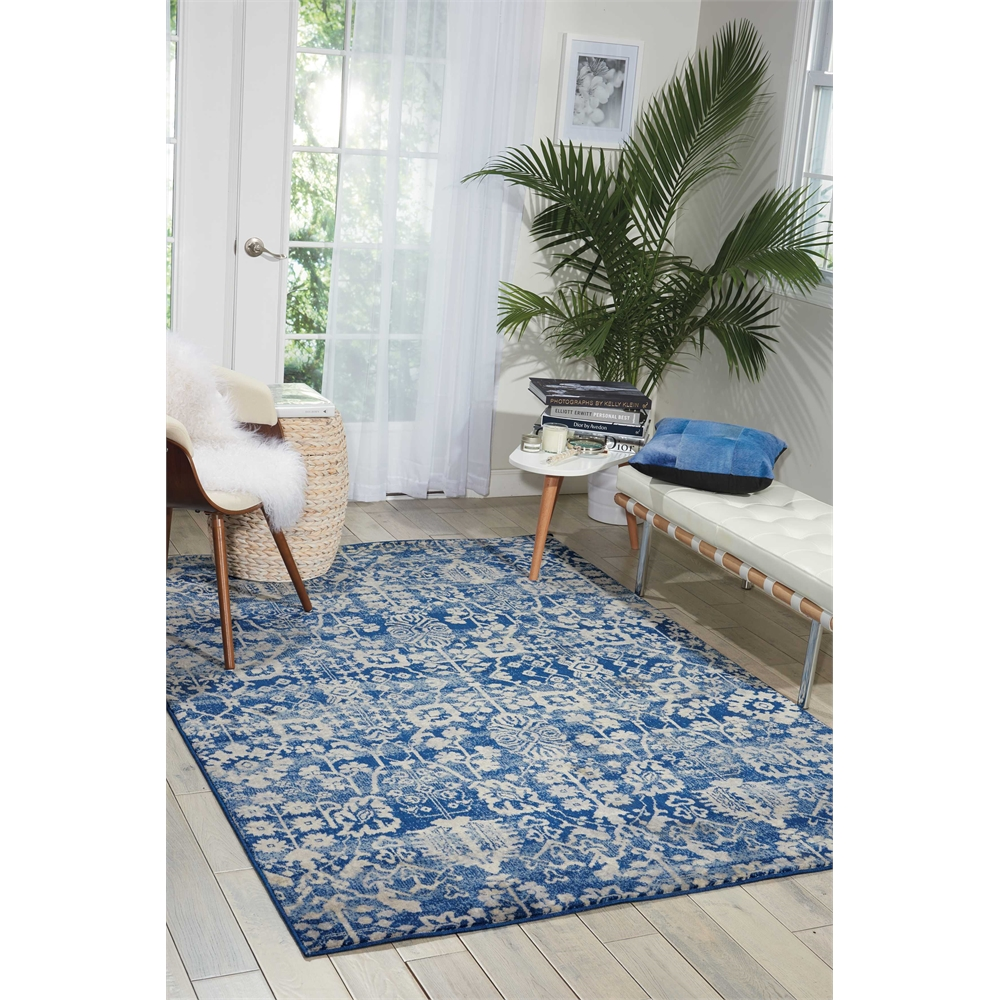 Nourison Somerset Navy Area Rug. Picture 6