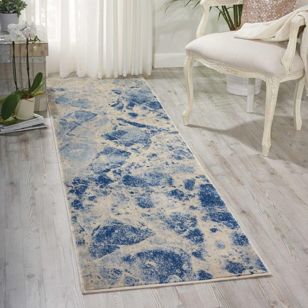 Nourison Somerset Blue Area Rug. Picture 2