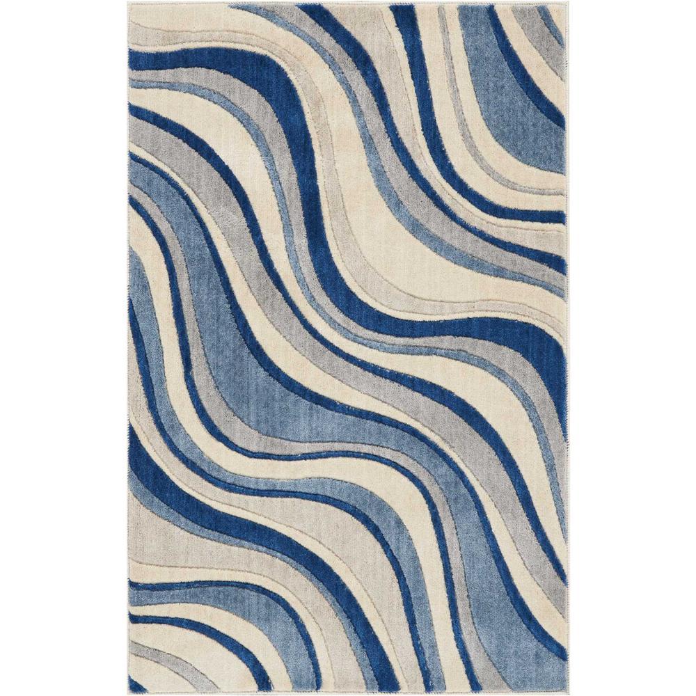 Eternity Landscapes Ocean Area Rug: Nourison Somerset Ivory/Blue Area Rug
