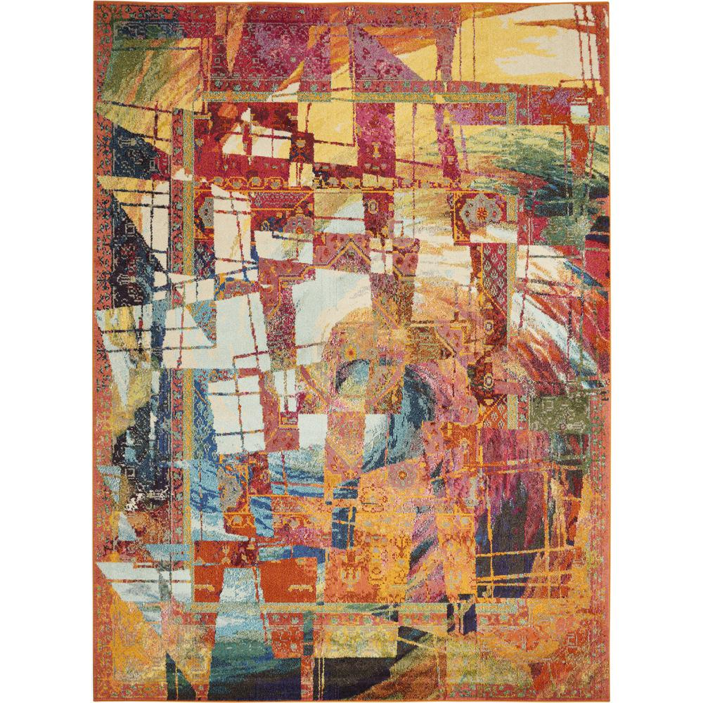 """Celestial Area Rug, Stained Glass, 7'10"""" x 10'6"""". Picture 1"""