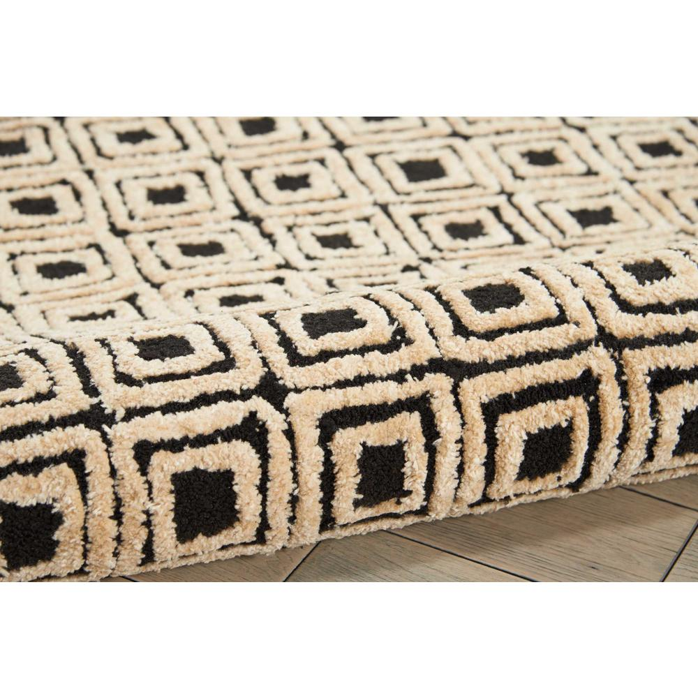 "Modern Deco Area Rug, Black/Beige, 3'9"" x 5'9"". Picture 3"